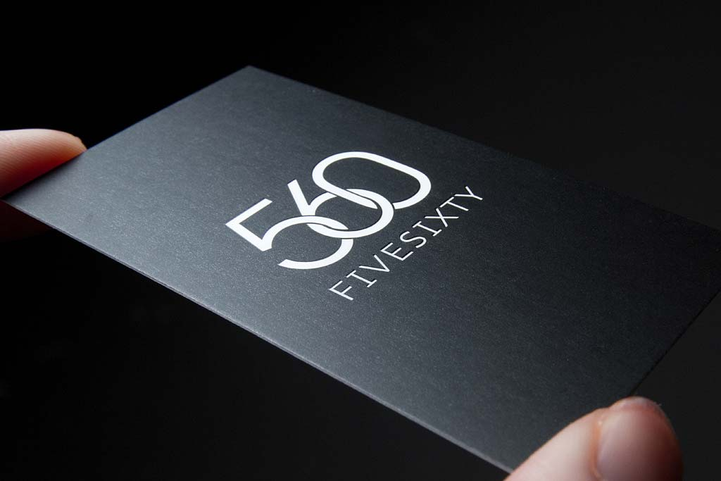 Business Cards Spot UV foil