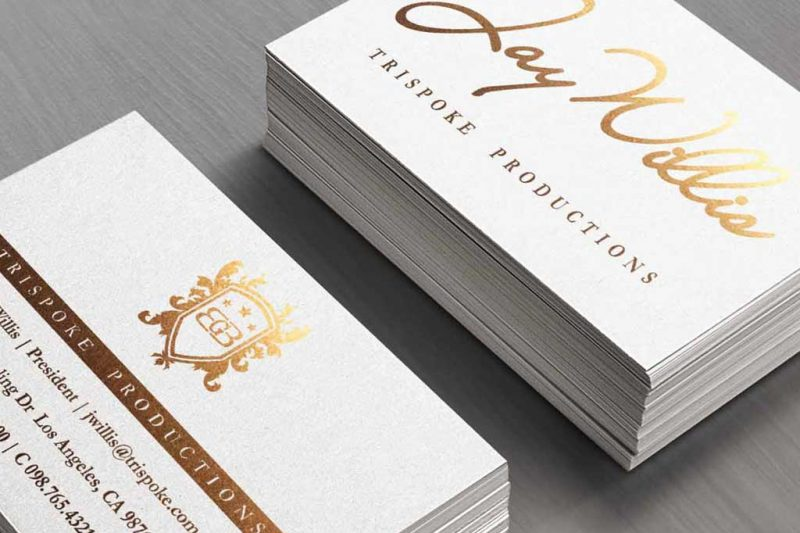 Silk Laminated Stamped Foil Business Cards