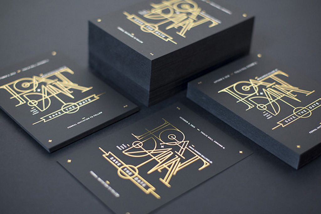 Uncoated Business Cards   Stamped Foil