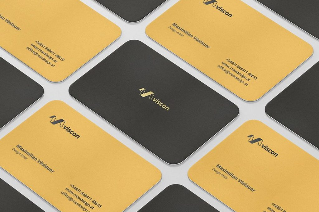 Silk Laminated Business Cards | Stamped Foil