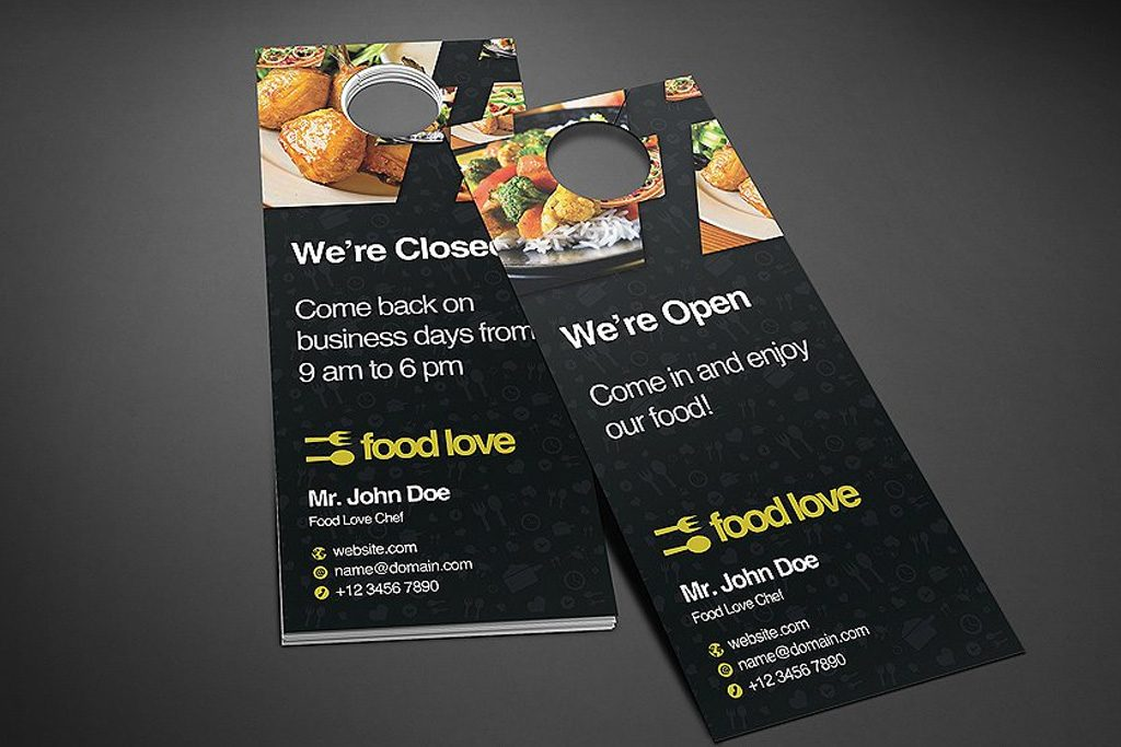 Uncoated Door Hangers | Food | Printing Brooklyn