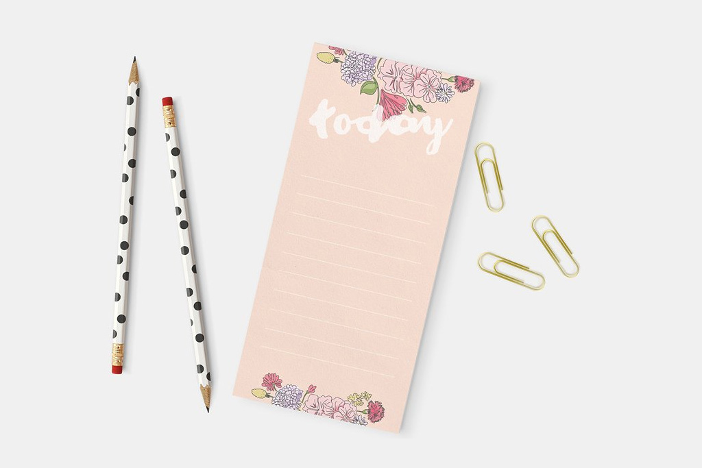 Linen Notepads | Pink | Printing Brooklyn