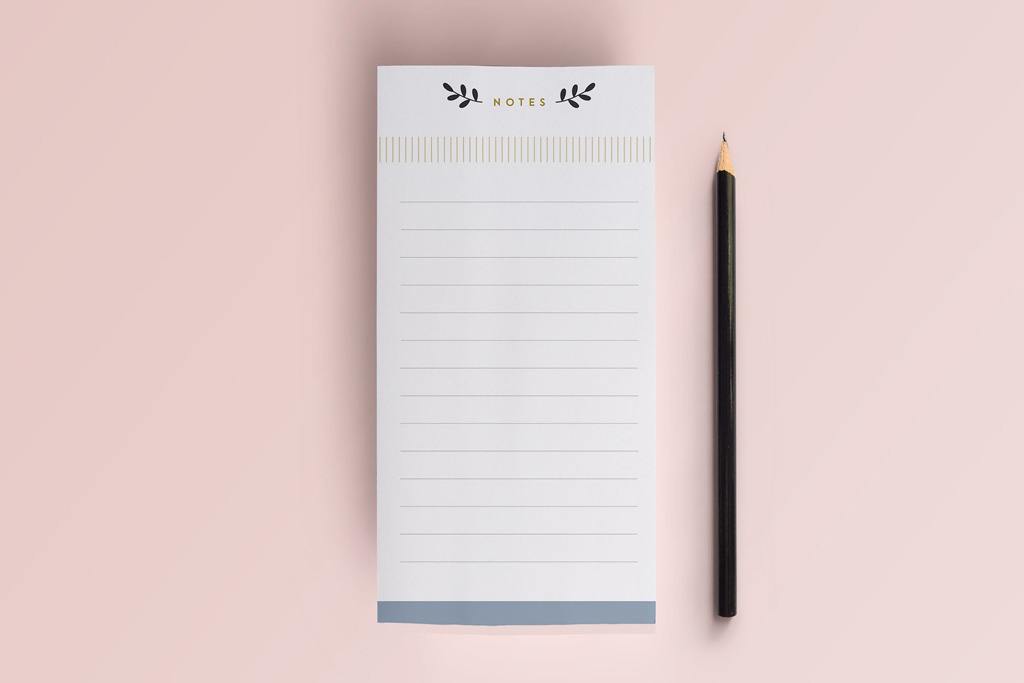 Linen Notepads | Lined | Printing Brooklyn