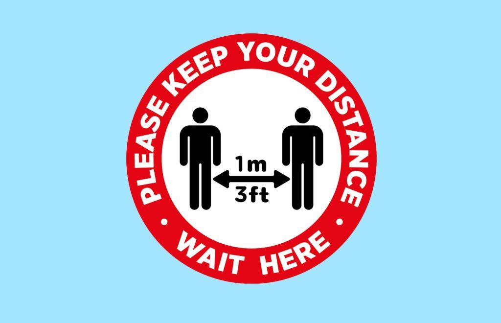 Social Distancing Floor Stickers 3